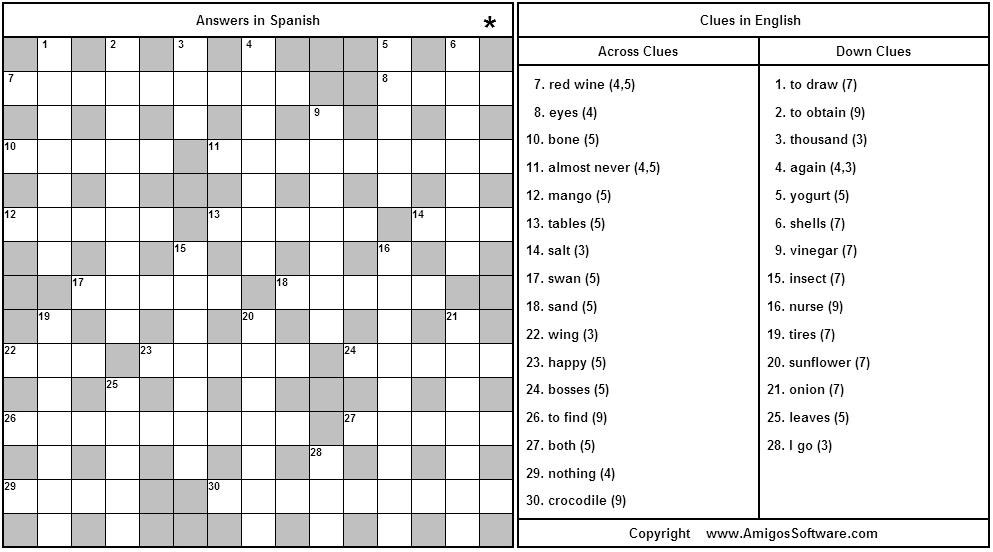Alma libre newsletter december 2006 here is another amigo spanish puzzle to solve the puzzle click the picture to the left and a new window will open with the puzzle full screen m4hsunfo